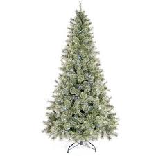 time pre lit 7 led tinsel artificial tree cool