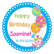birthday stickers personalized birthday party stickers kids custom circle label
