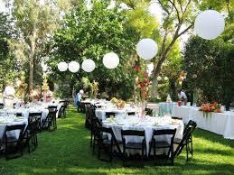 back yard wedding reception decoration ideas back yard wedding