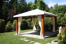 Gazebo Curtains Gazebos Here S A Wooden Gazebo With Curtain