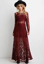 robe maxi en dentelle florale robes 2000174723 forever 21 eu