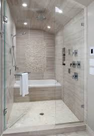 Bathroom White Porcelain Flooring Stainless by Grand Shower Room With Clear Glass Shower Enclosure Feat White