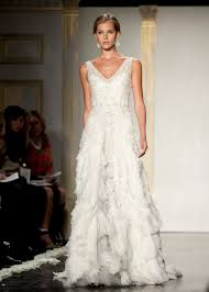 inspired beaded v neck wedding dress
