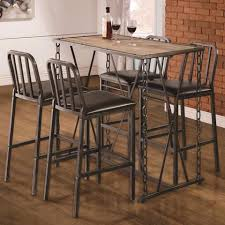 silver metal bar table industrial style silver metal chain link legs dining pub bar table