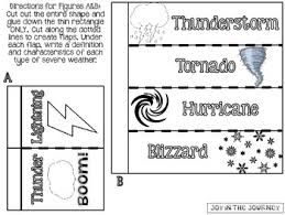 weather interactive notebook foldables by joy in the journey by