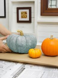 How To Make A Halloween Pumpkin Cake by How To Make Glittered Pumpkins Hgtv
