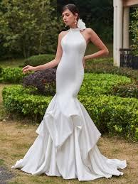 high neck halter wedding dress halter wedding dresses tbdress