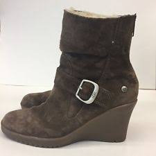 s gissella ugg boots ugg australia suede wedge ankle boots for ebay