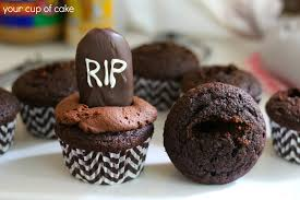 chocolate halloween cakes tombstone cupcakes your cup of cake