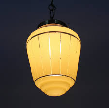 Yellow Light Fixture French Yellow Glass Pendant Lamp 1950s For Sale At Pamono