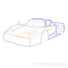 car ferrari drawing how to draw a ferrari u2013 pop path