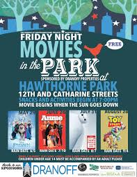 family movie nights are returning to hawthorne park friday nights