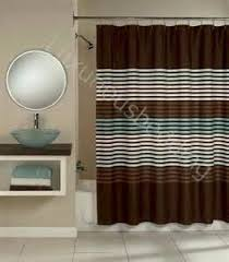 blue and brown stripe bathroom accessories tsc