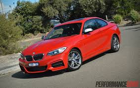 matte red bmw 2014 bmw m235i review video performancedrive