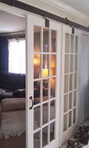 sliding glass french doors sliding barn doors with glass track doors were built of blackened