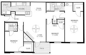 Home Design For 3 Room Flat More Bedroom 3d Floor Plans Clipgoo Apartment Studio S York For