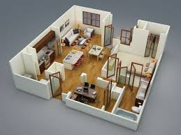 modern 1 bedroom apartments fascinating 3 bedroom 1 floor house plans best one bedroom house