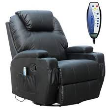 Cinema Recliner Sofa Foxhunter Black Bonded Leather Cinema Recliner Armchair