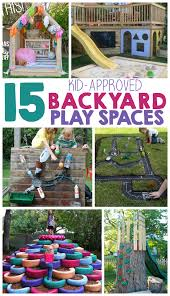 Backyard Ideas For Children 15 Backyard Play Space Ideas For Kids The Realistic Mama