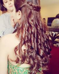 hairstyles for girl engagement open hairstyle with braid and waves loose curls braid hairstyles