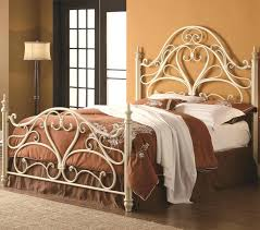 cheap modern bed frame romantic wrought iron queen bed metal beds