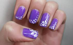 easy nail art designs 3 diy elegant silver violet purple dark
