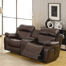 Rocking Reclining Loveseat With Console Amazon Com Homelegance Marille Reclining Loveseat W Center