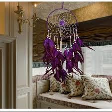 beautiful wedding decor purple feather catcher large