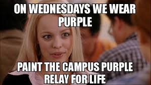 How To Make A Meme In Paint - on wednesdays we wear purple paint the cus purple relay for life