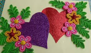 greeting card how to make beautiful quilling heart design greeting card
