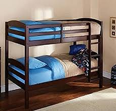 amazon com mainstays twin over twin wood bunk bed espresso