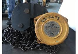 block and tackle l used beaver chain hoist 10 ton x 2 5 meter drop lifting block and