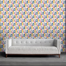 Self Adhesive Wallpaper Love Self Adhesive Wallpaper In Pink Blue And Multi By Bobby