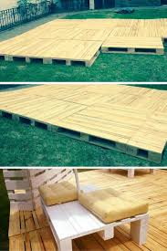 How To Build A Cheap Patio Build Pallets Deck And Furniture Pallet Wood Pallets And Decking