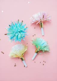 party horns diy fringed party horns julep