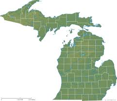 map of michigan michigan physical map and michigan topographic map