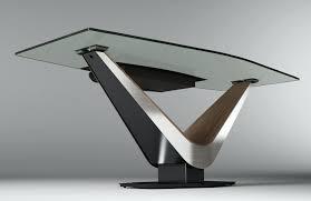 Modern Glass Desk With Drawers Glass Modern Desk Netup Me