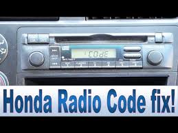honda civic accord cr v pilot radio code and serial number repair