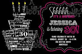birthday invites glamorous 30th birthday party invitations design