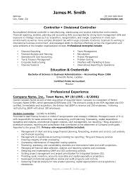 Financial Resume Example by Controller Resume Sample Resume For Your Job Application