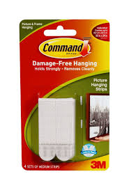 How To Hang Posters Without Damaging Walls by Amazon Com Command Picture Hanging Strips Medium White 4 Pairs