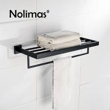 Bathroom Towel Bars Online Get Cheap Bathroom Towel Rack Black Aliexpress Com
