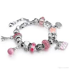european bracelet charms images New european silver plated bead crystal charm bracelet beads fit jpg