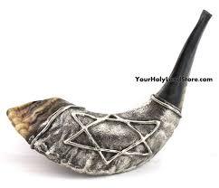 rams horn shofar silver plated rams horn shofar