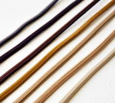 cloth covered electrical wire brown flat wire