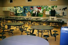 cushioned sheet vinyl flooring used in a cafeteria in jersey