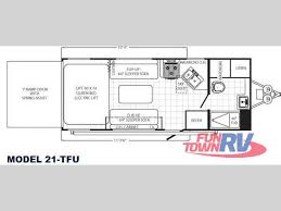 Puma Rv Floor Plans new 2013 palomino puma unleashed 21 tfu toy hauler travel trailer