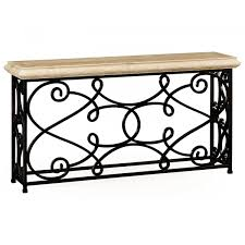 Iron Sofa Table by Console Table With Ornate Iron Frame Swanky Interiors