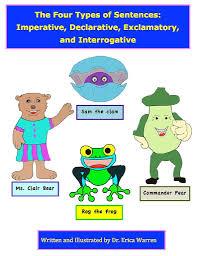 Declarative And Interrogative Sentences Worksheets Four Types Of Sentences Powerpoint Instruction Good Sensory Learning