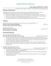 Example Of Education On Resume by Mft Intern Resume Free Resume Example And Writing Download